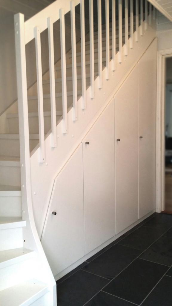 Garderobe under trapp – Møbelverket
